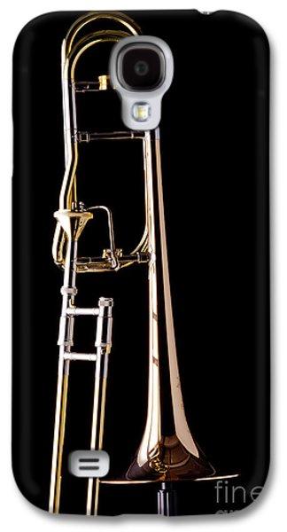 Trombone Galaxy S4 Case - Upright Rotor Tenor Trombone On Black In Color 3465.02 by M K  Miller