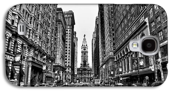 Urban Canyon - Philadelphia City Hall Galaxy S4 Case by Bill Cannon
