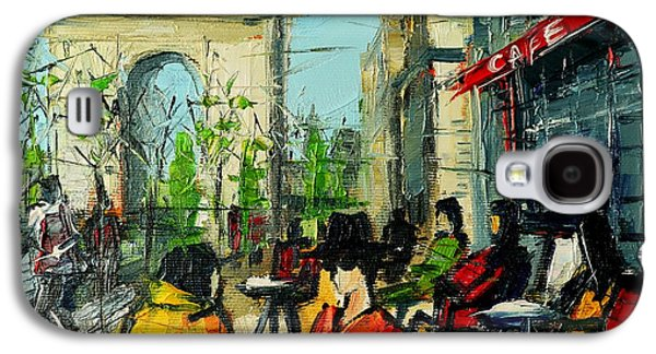 Urban Story - Champs Elysees Galaxy S4 Case by Mona Edulesco
