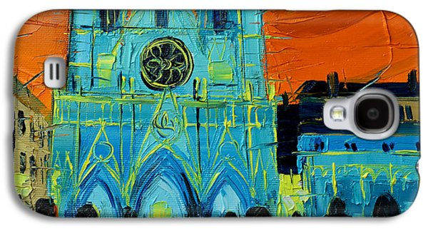 Urban Story - The Festival Of Lights In Lyon Galaxy S4 Case by Mona Edulesco