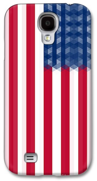 Us  Flag Vertical Galaxy S4 Case by Celestial Images