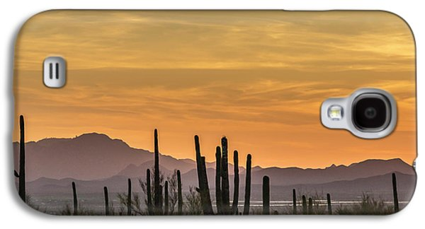 Desert Sunset Galaxy S4 Case - Usa, Arizona, Tucson Mountain Park by Jaynes Gallery