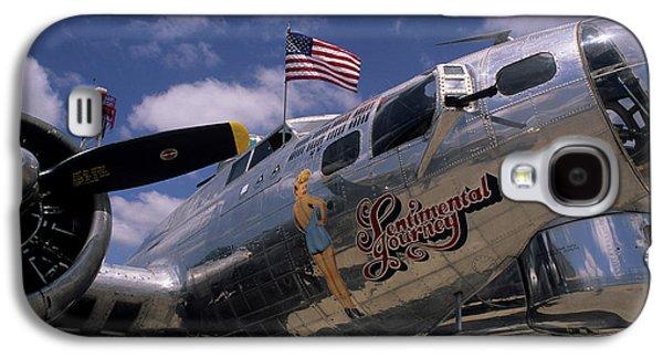 Usa, B-17 Bomber Aircraft, Salinas Galaxy S4 Case by Gerry Reynolds