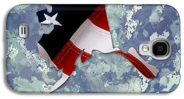 Usa Flag Alaska State Digital Artwork Galaxy S4 Case by Georgeta Blanaru