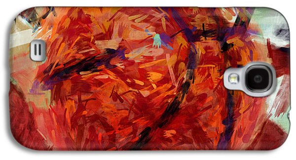 Usa Flag And Basketball Abstract Galaxy S4 Case by David G Paul