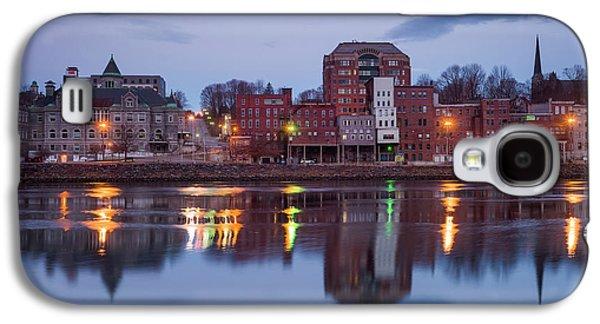 Usa, Maine, Augusta, Town View Galaxy S4 Case by Walter Bibikow
