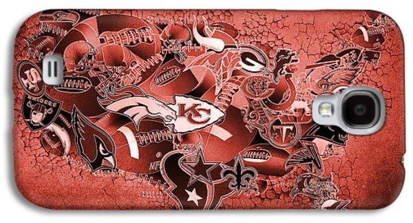 Usa Nfl Map Collage 14 Galaxy S4 Case