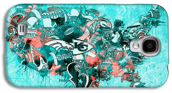 Usa Nfl Map Collage 9 Galaxy S4 Case