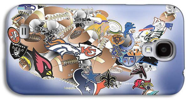 Usa Nfl Map Collage Galaxy S4 Case