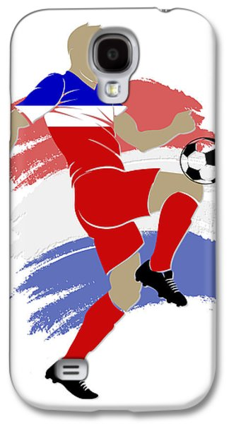 Usa Soccer Player Galaxy S4 Case by Joe Hamilton