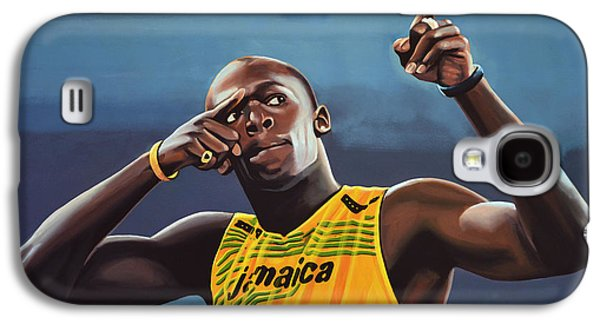 Portraits Galaxy S4 Case - Usain Bolt Painting by Paul Meijering