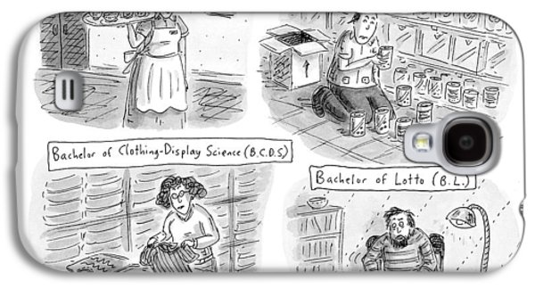 Useful Degrees: Bachelor Of Waitressing Galaxy S4 Case by Roz Chast