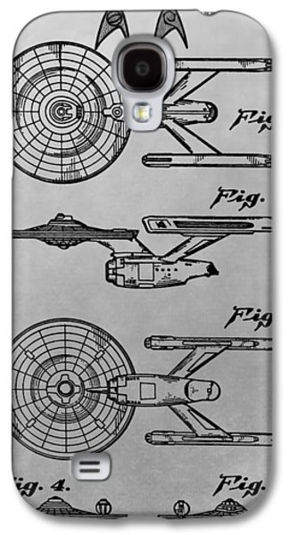 Uss Enterprise Patent Illustration Galaxy S4 Case by Dan Sproul