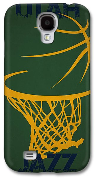 Utah Jazz Hoop Galaxy S4 Case by Joe Hamilton