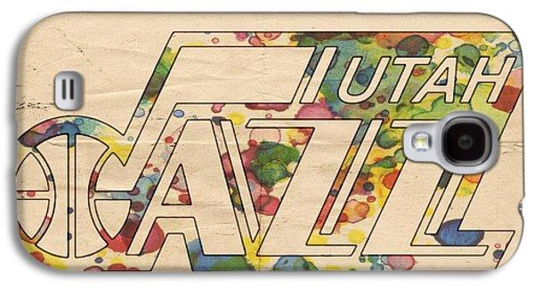 Utah Jazz Retro Poster Galaxy S4 Case by Florian Rodarte