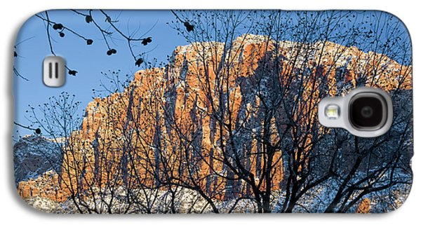 Utah Usa View Of The Watchman In Zion Galaxy S4 Case by Scott T. Smith