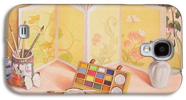 Utamaros Garden Wc On Paper Galaxy S4 Case by Tomar Levine