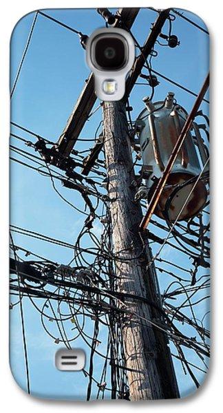 Utility Pole Galaxy S4 Case by Jim West