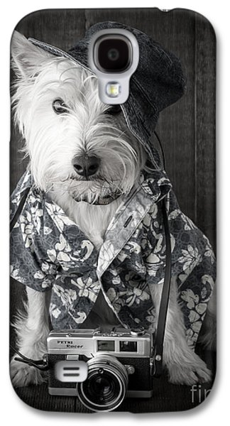 Vacation Dog With Camera And Hawaiian Shirt Galaxy S4 Case by Edward Fielding