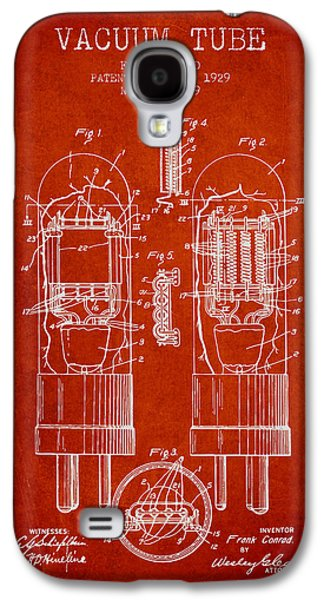 Vacuum Tube Patent From 1929 - Red Galaxy S4 Case by Aged Pixel
