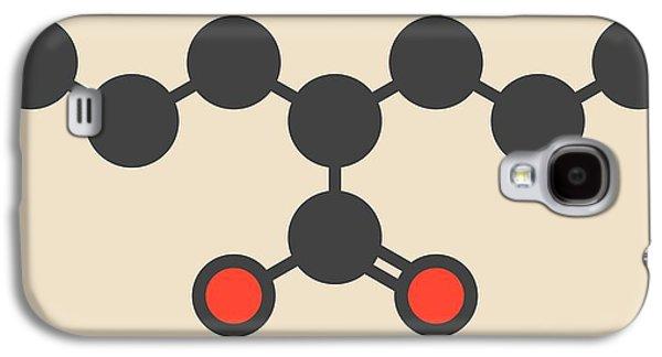 Valproic Acid Epilepsy Drug Molecule Galaxy S4 Case by Molekuul