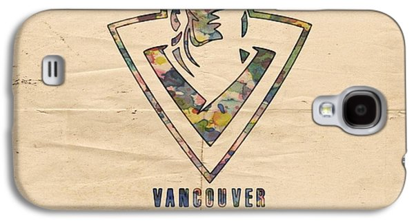 Vancouver Canucks Vintage Poster Galaxy S4 Case