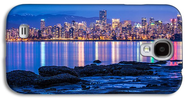 Vancouver City Twilight From Jericho Beach Galaxy S4 Case by Pierre Leclerc Photography