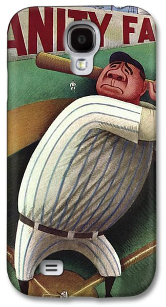 Vanity Fair Cover Featuring Babe Ruth Galaxy S4 Case by Miguel Covarrubias
