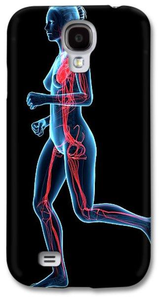 Vascular System Of Runner Galaxy S4 Case by Sebastian Kaulitzki