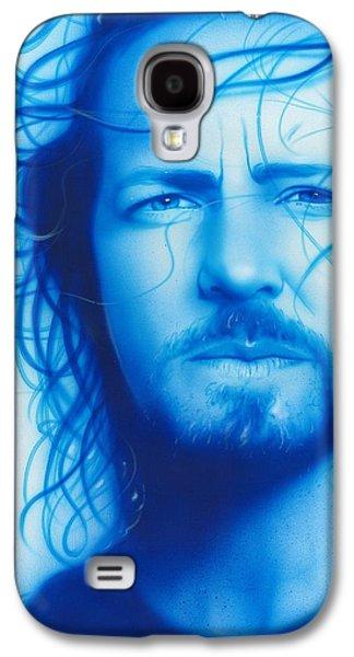 Eddie Vedder - ' Vedder ' Galaxy S4 Case by Christian Chapman Art