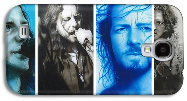Pearl Jam Galaxy S4 Case - Vedder Mosaic I by Christian Chapman Art