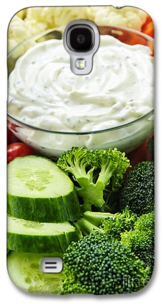 Broccoli Galaxy S4 Case - Vegetables And Dip by Elena Elisseeva