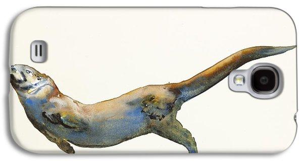 Otter Galaxy S4 Case - Velvet by Mark Adlington