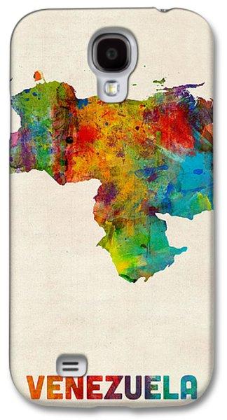 Venezuela Watercolor Map Galaxy S4 Case by Michael Tompsett