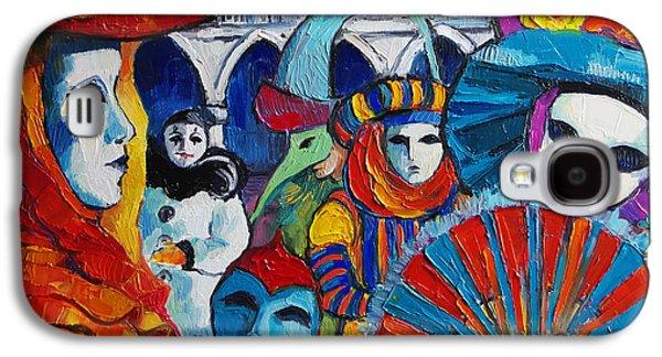 Venice Carnival Galaxy S4 Case by Mona Edulesco