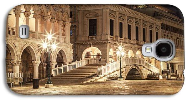 Venice Riva Degli Schiavoni At Night Galaxy S4 Case by Melanie Viola