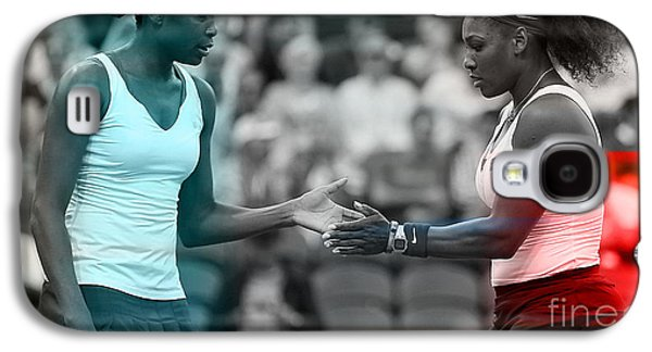 Serena Williams Galaxy S4 Case - Venus Williams And Serena Williams by Marvin Blaine
