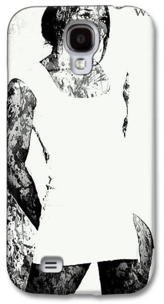 Venus Williams Paint Splatter 2c Galaxy S4 Case by Brian Reaves