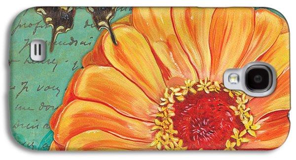 Verdigris Floral 1 Galaxy S4 Case by Debbie DeWitt