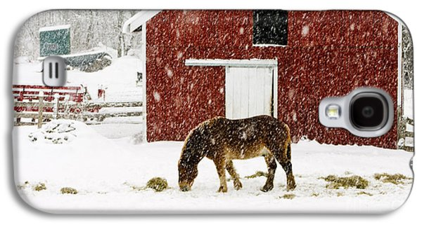 Vermont Christmas Eve Snowstorm Galaxy S4 Case by Edward Fielding