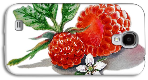 Artz Vitamins A Very Happy Raspberry Galaxy S4 Case by Irina Sztukowski