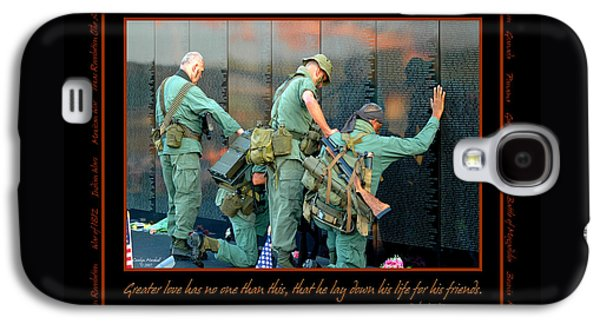 Veterans At Vietnam Wall Galaxy S4 Case by Carolyn Marshall
