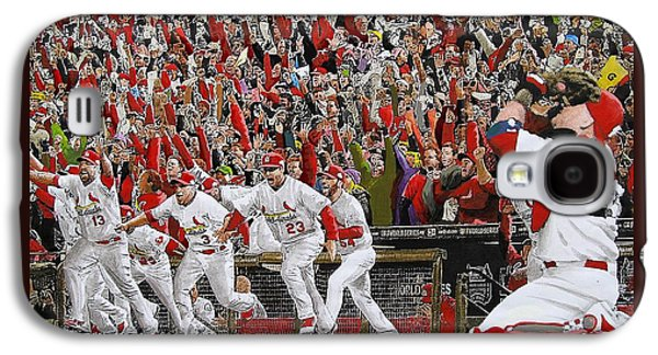 Cardinal Galaxy S4 Case - Victory - St Louis Cardinals Win The World Series Title - Friday Oct 28th 2011 by Dan Haraga
