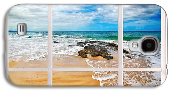 View From My Beach House Window Galaxy S4 Case by Kaye Menner