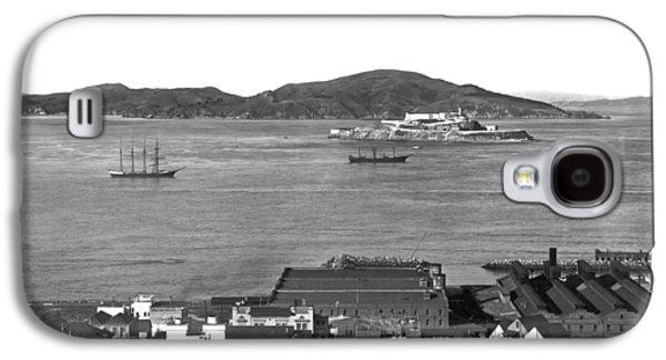 View Of Alcatraz Island Galaxy S4 Case by Underwood Archives