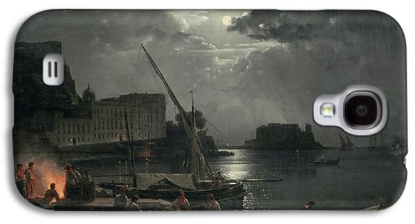 View Of Naples In Moonlight Galaxy S4 Case by Silvestr Fedosievich Shchedrin