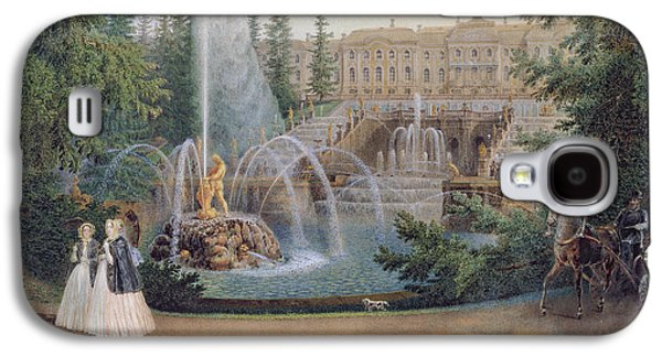 View Of The Marly Cascade From The Lower Garden Of The Peterhof Palace Galaxy S4 Case by Vasili Semenovich Sadovnikov