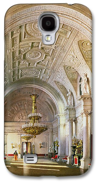 View Of The White Hall In The Winter Palace In St. Petersburg, 1865 Wc On Paper Galaxy S4 Case by Luigi Premazzi