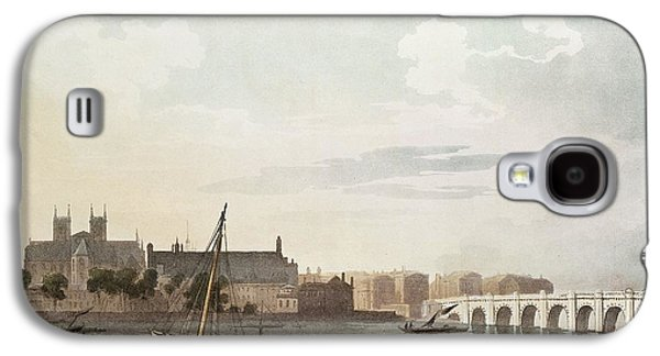 View Of Westminster And The Bridge Wc On Paper Galaxy S4 Case by English School
