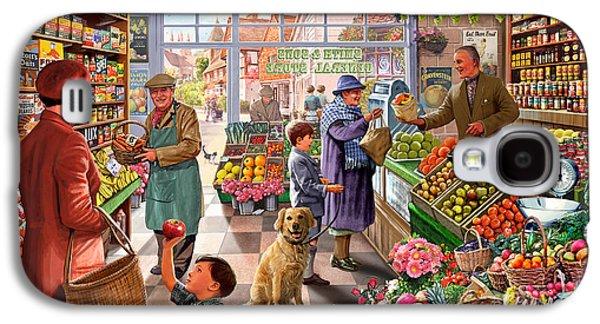 Village Greengrocer  Galaxy S4 Case by Steve Crisp